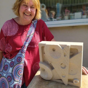 Abstract-relief-sculpture-in-Bath-stone-by-Sarah